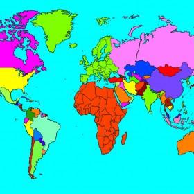 Giant World Map Rug