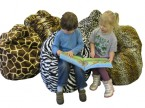 Giant Children's Bean Bag in Big 5 Safari Faux Skins