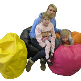 Giant Children's Bean Bag in Faux Leather