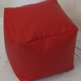 Square Pouffe in Faux Leather