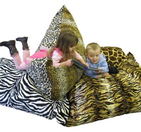 Monster Giant Floor Cushions in Big 5 Safari Faux Skins