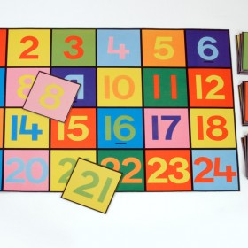 Numbers Playmat 1-24 & Giant Numbers Floor Tiles