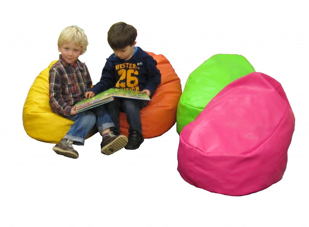 Snug Child Bean Bag With Memory Foam Faux Leather