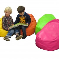 Snug Child Bean Bag with Memory Foam – Faux leather