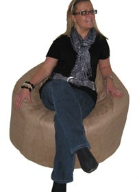 Hercules Adult Bean Bag in Faux Suede