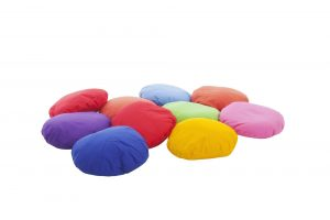Set of 10 Scatter Cushions Cotton